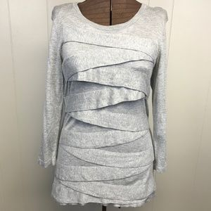 Soft VINCE CAMUTO Zigzag Sweater Gray XL